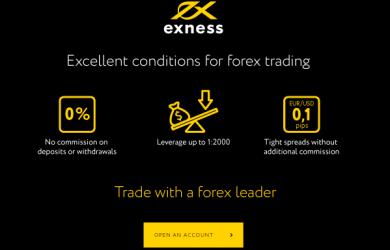 Exness เป็นโบรกเกอร์ forex ที่ดีที่สุด